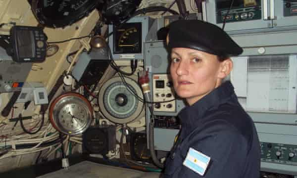 Eliana Krawczyk, who is Argentina's first female submarine officer, is onboard the San Juan.