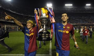 Bojan and Sergio Busquets
