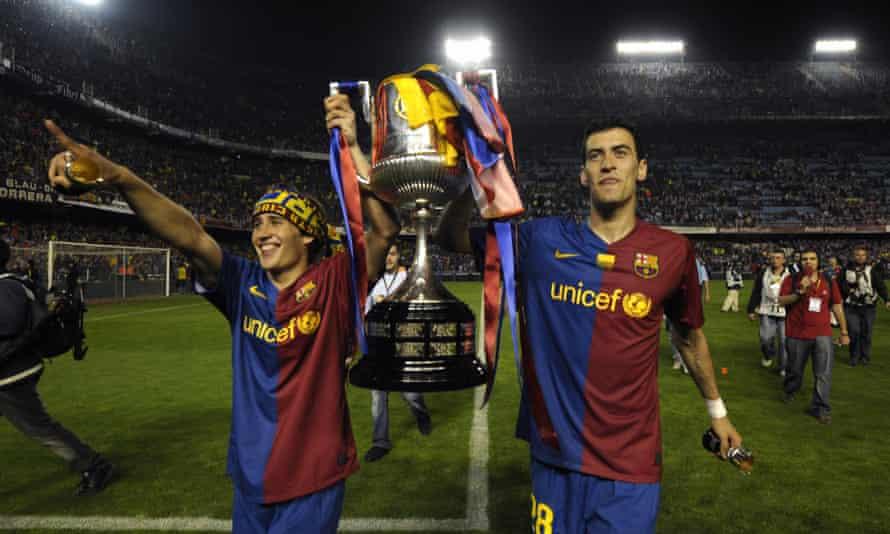 Bojan and Sergio Busquets