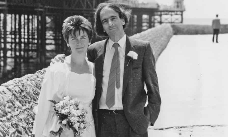 Alison and Raphael on their wedding day in Brighton, 1987