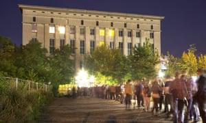 People queue outside Berlin's Berghain club.