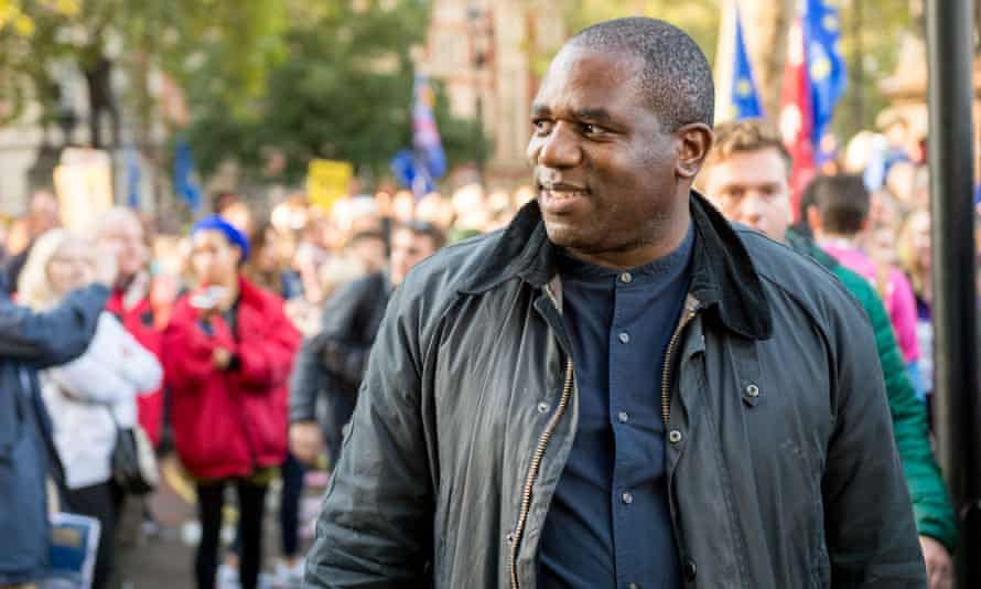 The shadow justice minister, David Lammy