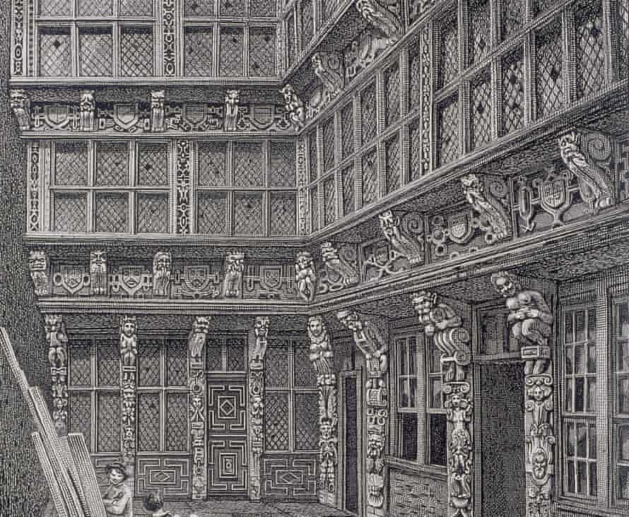Depiction of the mansion of Sir Richard (Dick) Whittington in Crutched Friars, London, 1812, by John Thomas Smith.