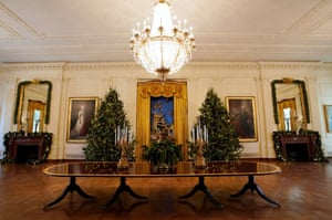 Christmas trees in the east room