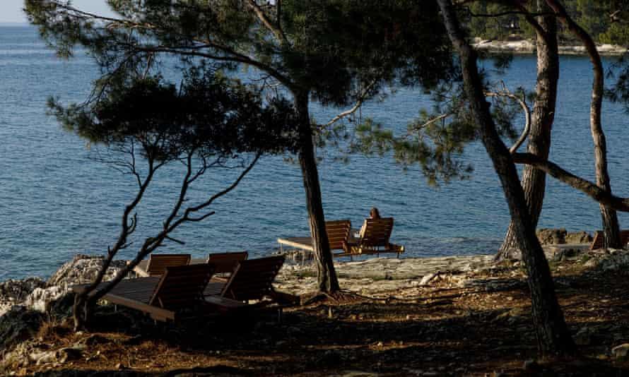 Beach in Porec, Croatia