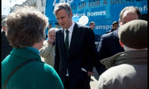 Zac Goldsmith on the campaign trail in Wimbledon.