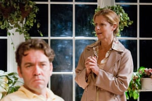 Brendan Cowell and Heather Mitchell in Sydney Theatre Company's True West.