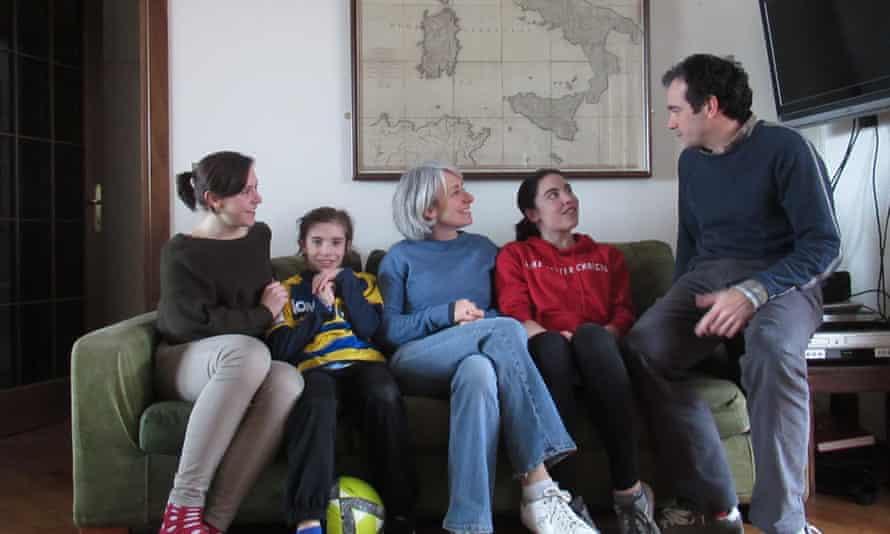 Tobias Jones and his Anglo-Italian family.