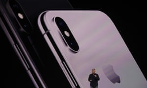 The back of the iPhone X is glass.