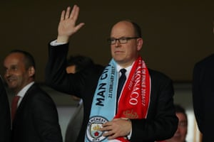 No prizes who Prince Albert II of Monaco will be cheering for.