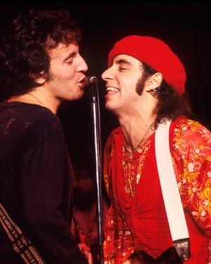 Bruce Springsteen and Steven Van Zandt in 1977