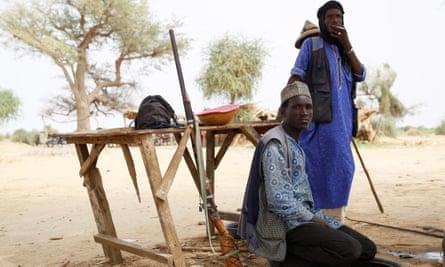 A pair of herdsmen in Yobe state, Nigeria