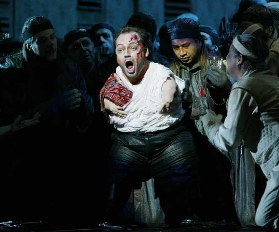 Quasthoff as Amfortas in Wagner's opera Parsifal in Vienna in 2004.