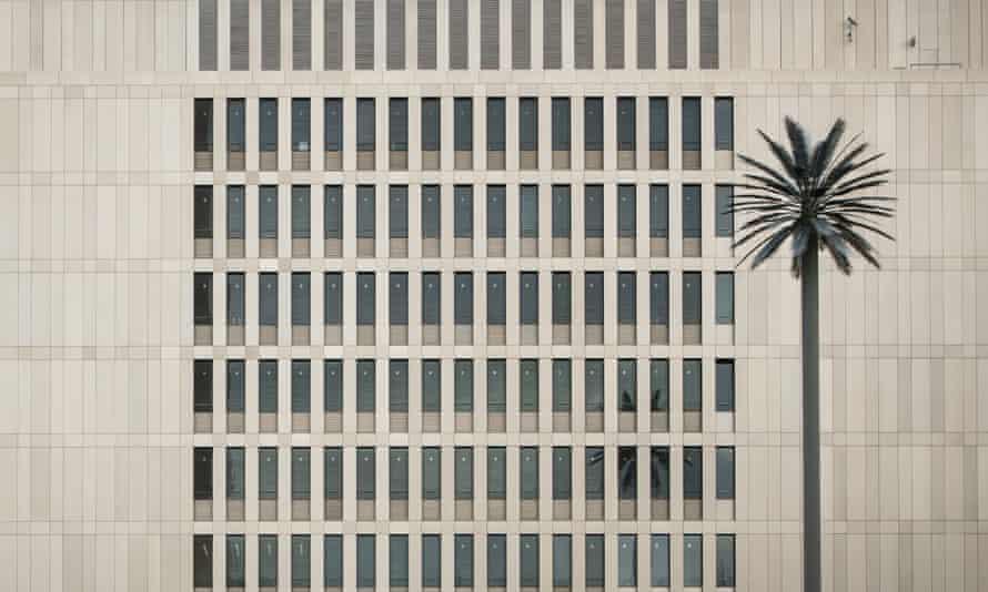 One of artist Ulrich Brüschke's palms outside the BND headquarters.