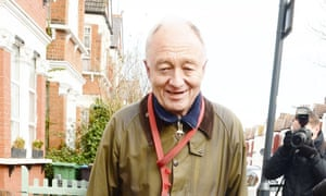 Ken Livingstone leaves his home in London after being suspended from the Labour party.