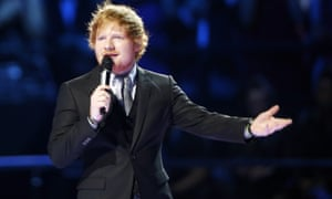 Ed Sheeran … 'A big hand, please, for my accountant!'