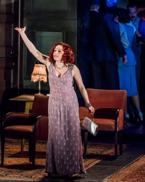 SinéŽad Matthews in Absolute Hell by Rodney Ackland at the Lyttelton, National Theatre. Directed by Joe Hill-Gibbins.