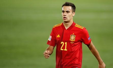 Sergio Reguilón playing for Spain against Ukraine in September 2020