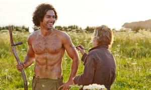 Aidan Turner's topless scything in Poldark was voted as the best Tv moment of last year.
