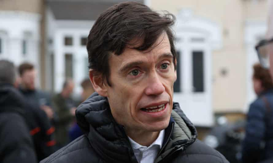 Rory Stewart speaks to reporters in January after a stabbing.