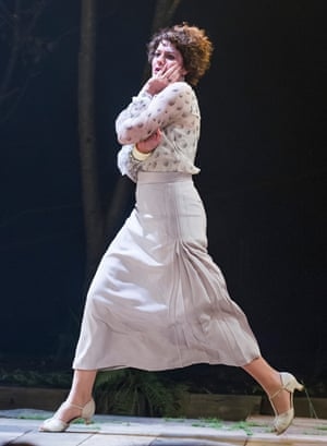 Anna Chancellor in The Seagull.