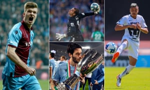 Trabzonspor's Alexander Sørloth; Joel Robles of Real Betis, Puma's Pablo Barrera and Luis Alberto of Lazio have all thrived since leaving the Premier League.