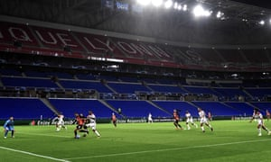 Last week's Champions League match between Lyon and Shakhtar Donetsk was played behind closed doors.