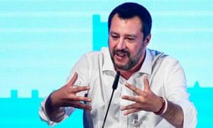 Italy's deputy PM Matteo Salvini