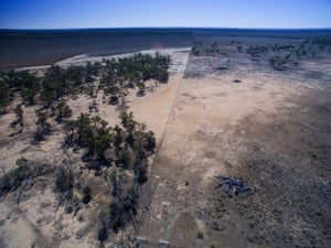 Recent land-clearing near Moree, New South Wales.