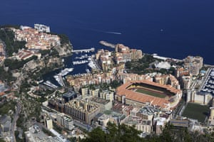 The Stade Louis II perched in Monaco.