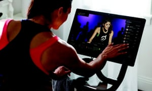 Peloton lets spin class fans work out in a gym or at home using a £2,000 bike.