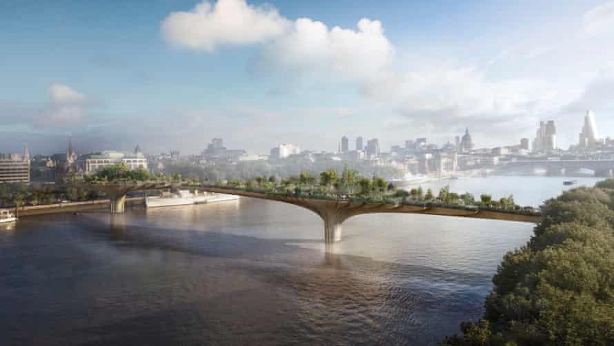 Artist's impression of London garden bridge