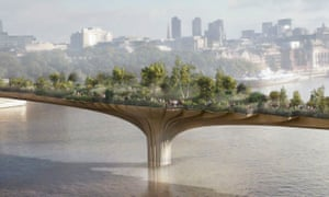 A cynical garnish for raising land values … the garden bridge, designed by Thomas Heatherwick.