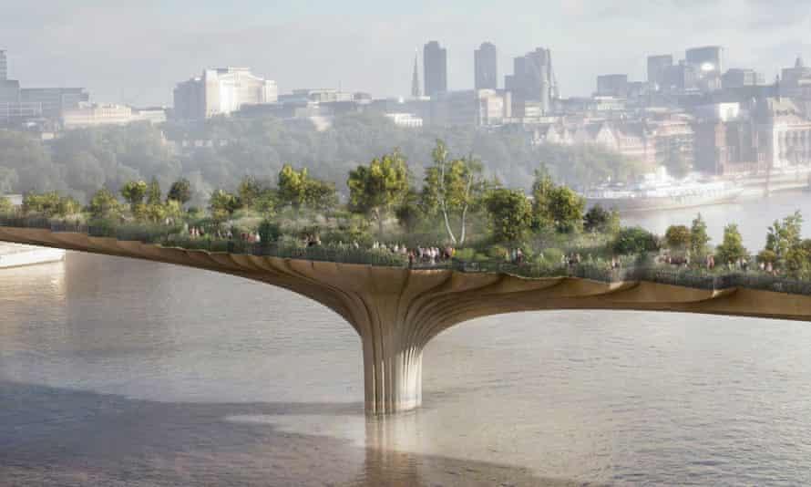 A cynical garnish for raising land values … the garden bridge, designed by Thomas Heatherwick.
