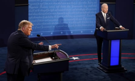 Biden had one task: to preserve his dignity while speaking to Donald Trump.