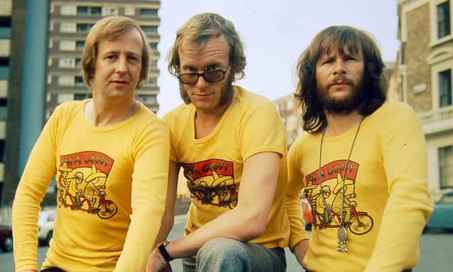 The Goodies in 1973. From left: Tim Brooke-Taylor, Graeme Garden and Bill Oddie.