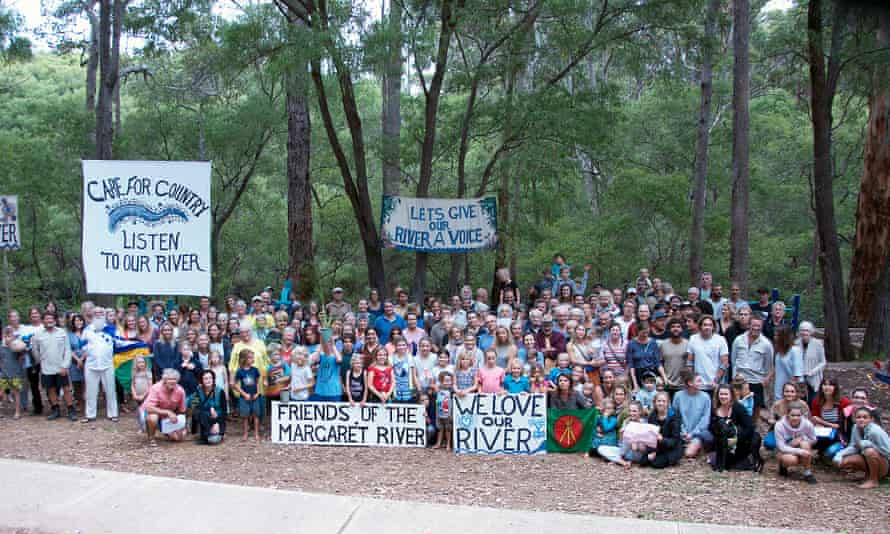 'We love our river.' The community rally on the Margaret river on 20 March