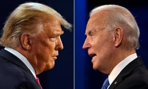 Donald Trump (left) and Joe Biden