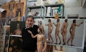 Adam Lowe at the Factum Arte workshop in Madrid.