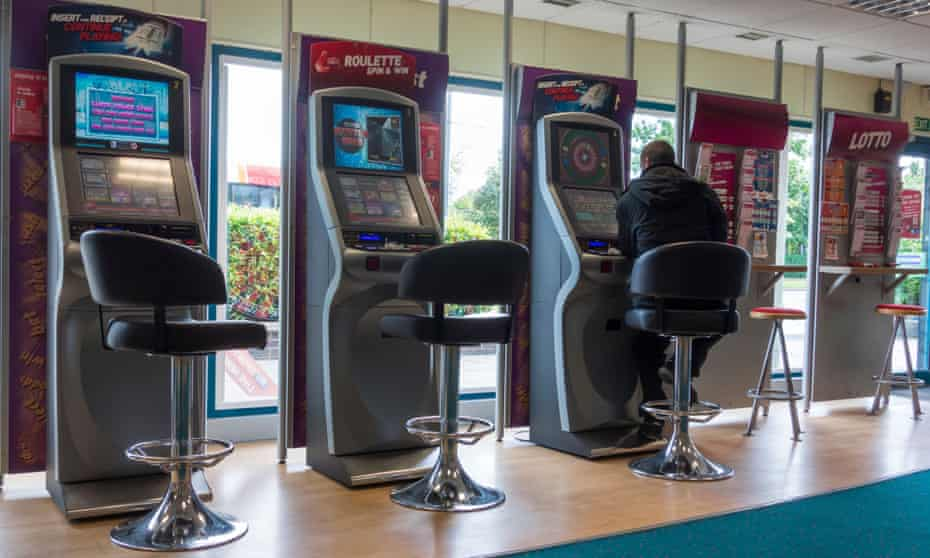Roulette machines in a bookmakers.