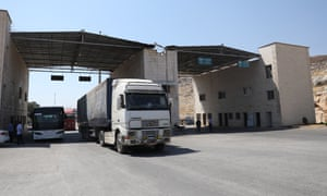 International humanitarian aid trucks are now allowed to cross into Syria at the Bab al-Hawa border crossing.