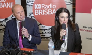 Peter Dutton and Labor candidate for Dickson Ali France are seen during an ABC debate on Tuesday.