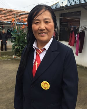 Jiang Buying, 60, an evangelical Christian who runs the Dingdian retirement home