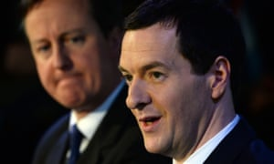 George Osborne and David Cameron speak to business leaders at the AQL centre in Leeds.