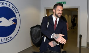 Danny Ings checks in at the Amex.