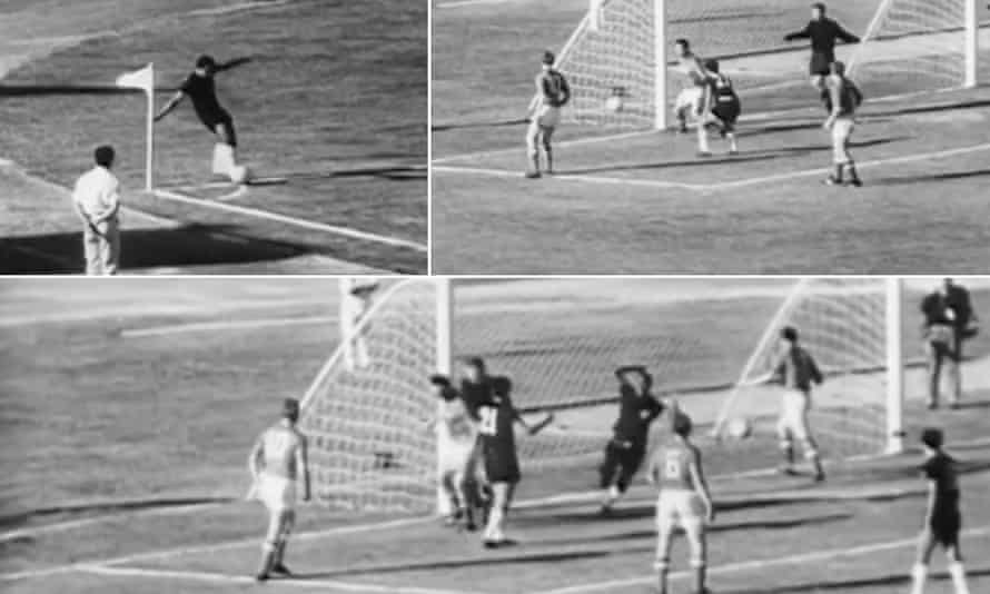 Marcos Coll takes a corner against the USSR, which bounces at the near post and goes into the net.
