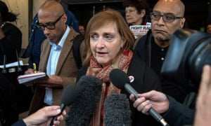 Emma Dent Coad, the former Kensington MP, after the first preliminary hearing in the Grenfell Tower public inquiry.