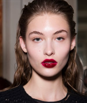 Kissed off: 'snogged lips' at Preen by Thornton Bregazzi.