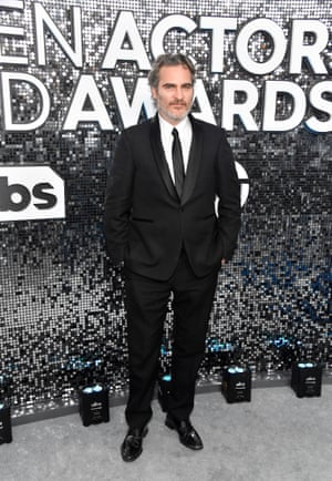 Joaquin Phoenix, nominated for outstanding male actor in a leading role for Joker