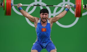 Krgyzstan's Izzat Artykov took bronze in the 69kg weightlifting competition but has tested positive for strychnine and has had his medal rescinded.
